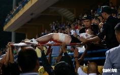 Điều tra vụ cổ động viên Nam Định đốt pháo sáng, gây rối trên sân Hàng Đẫy