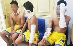 Video: Chùm bóng bay phát nổ, ba cầu thủ SLNA nhập viện
