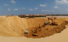 Sập mỏ khai thác quặng titan, một công nhân bị chôn vùi