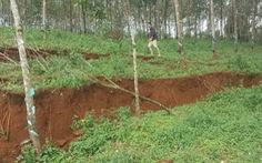 Lở đất gần hồ thải quặng Alumin Nhân Cơ một phần do mương dẫn nước