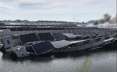 Bão Faxai gây cháy nhà máy điện mặt trời lớn nhất Nhật Bản