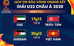 Lịch trực tiếp Giải U23 châu Á 2020: U23 Việt Nam gặp Jordan