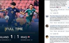 Cổ động viên Thái: 'Hòa mà cảm giác như vô địch World Cup vậy'