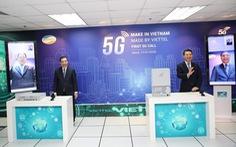 Thực hiện cuộc gọi 5G đầu tiên trên thiết bị hạ tầng mạng do Việt Nam sản xuất