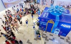 Khoảnh khắc 'vượt trội mùa lễ hội' cùng các gia đình trẻ với hộp quà Aqua