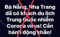 Đà Nẵng bác thông tin có người nhiễm virút corona vào thành phố