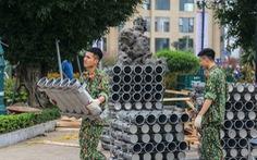 Cận cảnh trận địa pháo hoa chuẩn bị đón giao thừa