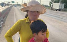 Người phụ nữ nghi bị tâm thần chở con nhỏ chạy ngược chiều trên cao tốc