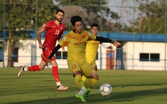 U23 Việt Nam chiếm ưu thế nhưng để thua Bahrain 1-2 trong trận đấu tập