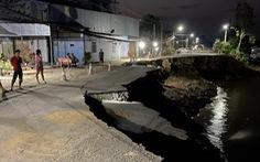 Sau tết, quốc lộ 91 lại rạn nứt và sạt lở, huy động lực lượng túc trực