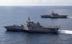 Tàu chiến Mỹ áp sát thực thể lớn nhất Trung Quốc xây trái phép ở Trường Sa