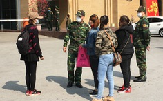 Người dân lên Móng Cái để sang Trung Quốc được yêu cầu quay về