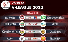 Lịch trực tiếp vòng 13 V-League: Xác định 8 đội đua vô địch