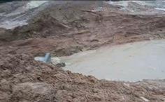 Một đoạn đập ở Quảng Nam bị vỡ do ảnh hưởng bởi mưa lớn