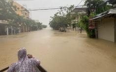 Quảng Nam cảnh báo lũ đặc biệt lớn trên sông Vu Gia, Thu Bồn