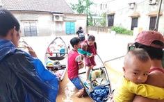Rốn lụt Tân Đức vẫn ngập suốt 10 ngày qua