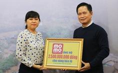 Gần 63.000 lượt người đóng góp ủng hộ người dân vùng lũ qua Ví MoMo