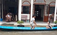 Kiên Giang: Ngập úng, lở đê khắp nơi do ảnh hưởng mưa bão, triều cường