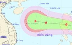 Hai ngày nữa thôi, tâm bão lại cách quần đảo Hoàng Sa 410 km, gió giập cấp 11