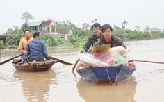 Hồ Kẻ Gỗ giảm xả tràn còn 500m³/s, nước lũ nhiều vùng Hà Tĩnh đang rút