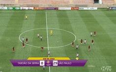 Đội nữ Sao Paulo thắng Taboao da Serra với tỉ số kỉ lục 29-0 !