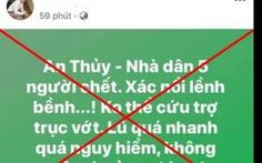 Hai người bị xử phạt vì đăng tin sai sự thật về lũ lụt trên mạng xã hội