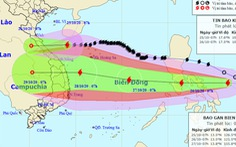Bão Saudel còn cấp 9, bão Molave tiếp tục mạnh thêm