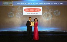 Dai-ichi Life Việt Nam đạt danh hiệu Top 2 Nơi làm việc tốt nhất ngành Bảo hiểm năm 2020