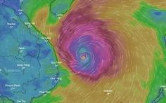 1h ngày 28-10, bão số 9 cách Phú Yên 240 km, giật cấp 16