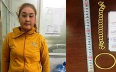 Bắt nữ nghi phạm chuyên đem vàng dỏm đến tiệm cầm đồ để lừa đảo