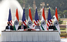 Mỹ ký thỏa thuận quân sự nhạy cảm với Ấn Độ