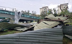 Bệnh viện Đa khoa Quảng Nam bị tốc mái, di dời gần 50 bệnh nhân