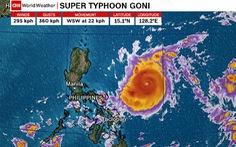 Philippines sơ tán hơn1 triệu dân tránh 'siêu bão' mạnh nhất thế giới Goni