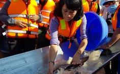 An Giang thả trên 18 tấn cá về sông để tái tạo nguồn lợi thủy sản