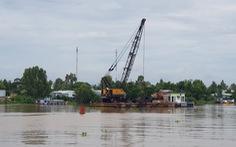 Dân phản ứng với dự án nạo vét thông luồng sông Hậu vì sợ sạt lở trôi nhà