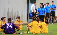 Cầu thủ nữ Phong Phú Hà Nam bỏ thi đấu để phản đối quyết định của trọng tài