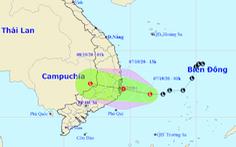 Chiều nay 7-10, áp thấp vào vùng biển Phú Yên - Khánh Hòa, gió giật cấp 8