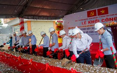 TP.HCM: Khởi công dự án xóa điểm ngập đường Võ Văn Ngân