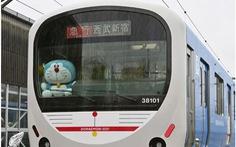 Tàu lửa Doraemon ra mắt mừng sinh nhật tuổi 50 của chú mèo máy thông minh