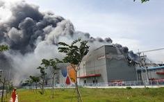 Cháy nhà máy sản xuất thực phẩm trong khu công nghiệp Hiệp Phước