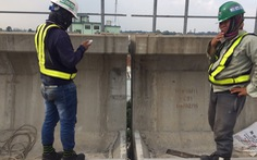 Đã khắc phục sự cố gối cao su trên dầm cầu cạn metro số 1 bị rớt