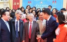 Tổng bí thư, Chủ tịch nước Nguyễn Phú Trọng về thăm trường cũ