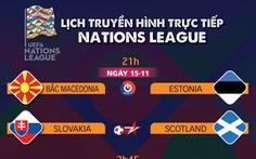 Lịch trực tiếp Nations League: Tâm điểm Bỉ - Anh