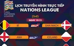 Lịch trực tiếp Nations League: Nhiều ông lớn ra sân