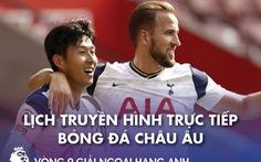 Lịch trực tiếp bóng đá châu Âu 21-11: Tottenham - Man City