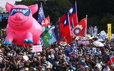 Biểu tình chống thịt heo Mỹ ở Đài Loan