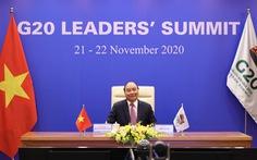 Thủ tướng Nguyễn Xuân Phúc kêu gọi các nước đoàn kết vượt qua COVID-19 tại G20