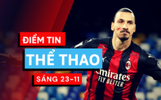 Điểm tin thể thao sáng 23-11: Ibrahimovic lập cú đúp, Medvedev vô địch ATP Finals
