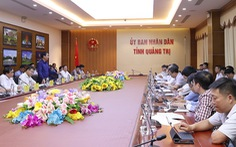 Đoàn công tác của EVN làm việc với UBND tỉnh Quảng Trị