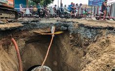 Lại xuất hiện hố sụt sâu 8m có thể 'nuốt chửng' xe tải trên đường Phan Văn Trị